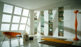 mazzal,棚,本棚.ビルトイン本棚,作り付け本棚,天窓